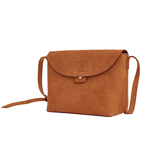 Go Shoulder Klerokoh Crossbody colore Marrone To Simple Shopping Leather Marrone Shoulder Handbag Small FAFnB8qI4