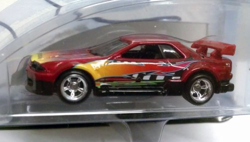 NISSAN SKYLINE No. 1/4 Burgundy / 100% Hot Wheels Super Street Series 2002 / 1:64 Scale Collectible Die Cast Vehicle