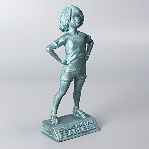 Girl Power: Beware for I am Fearless - motivational and inspirational girls room decoration figurine in bronze finish