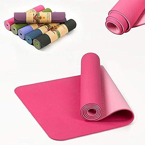 Amazon.com : truong 6MM TPE Non-Slip Elastic Yoga Mat for ...