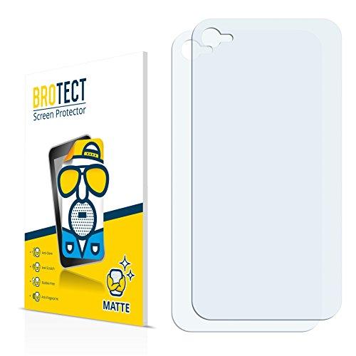 2x BROTECT Matte Pellicola Protettiva Opaca per Apple iPhone 4 Posteriore Proteggi Schermo Opaco, Antiriflesso