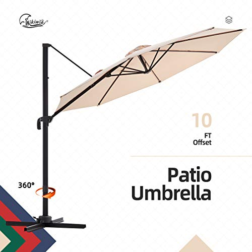wikiwikifset Cantilever Umbrella 10ft