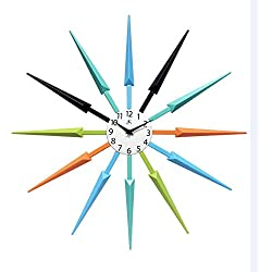 Infinity Instruments Midcentury Multicolored Wall Clock 24.5x 24.5x 1.75