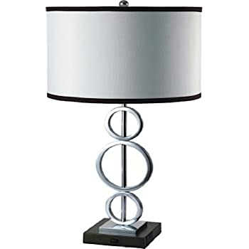 Ore International, Inc Ore International 8323 1 3 Ring Metal Table Lamp  With Convenient