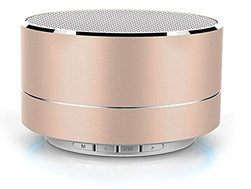Photron P10 Wireless 3W Super Bass Mini Metal Aluminium Alloy Portable Bluetooth Speaker with Mic (Gold)