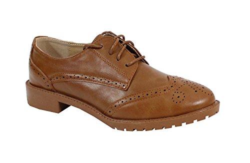By Shoes - Zapatos de cordones para Mujer Camel