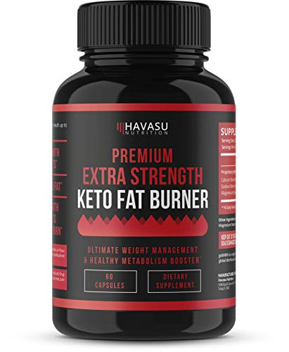 Extra Strength Keto Fat Burner Weight Loss Pills Designed to Push Optimal Ketosis Performance and Boost Energy; Patented BHB Salts, Non-GMO; 60 Capsules for Men & Women