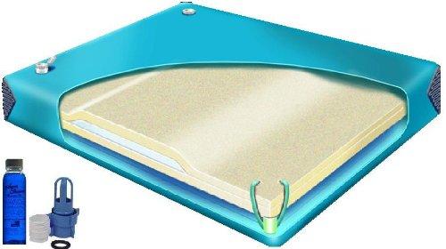 - 95% Ultra Waveless KING Size Hardside Waterbed Mattress with FREE Fill&Drain Kit