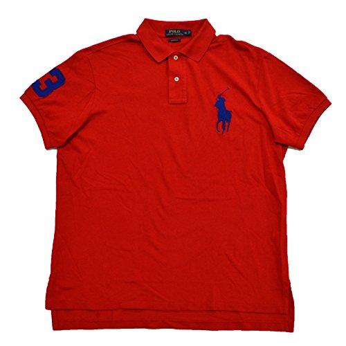 Polo Ralph Lauren Mens Custom Fit Big Pony Mesh Polo Shirt (XL, RL 2000)