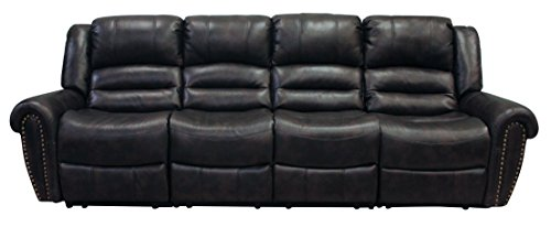 Milan Austin black Bonded Leather Reclining Sofa (Austin Leather Recliner)