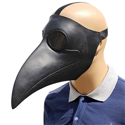 Halloween Animal Masks Realistic Mask Adult Kids Cosplay Game Latex Stage Haunted House Prop (Doctor Schnabel)