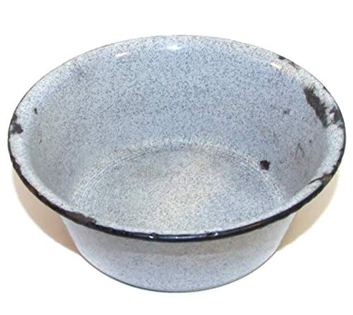 (Old Distressed Gray Speckled Graniteware Pot)