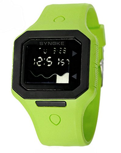 Boys Water-proof Summer Outdoor Digital Resin Sports Watches Kids Watches Red by YJLHCYGG