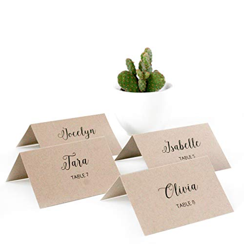 (BonBon Paper Printable Place Cards (Recycled Kraft))