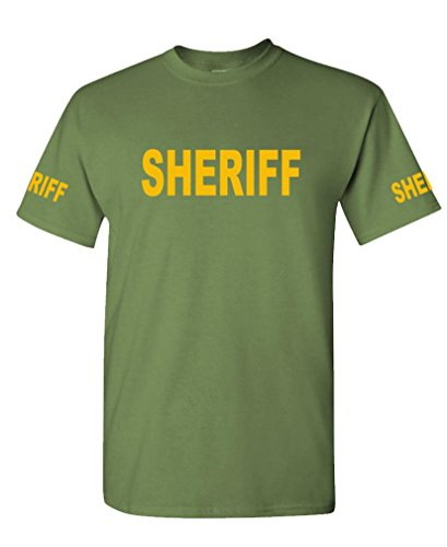 The Goozler v2 Sheriff - Law Enforcement Duty Police - Mens Cotton Tee, XL, Military