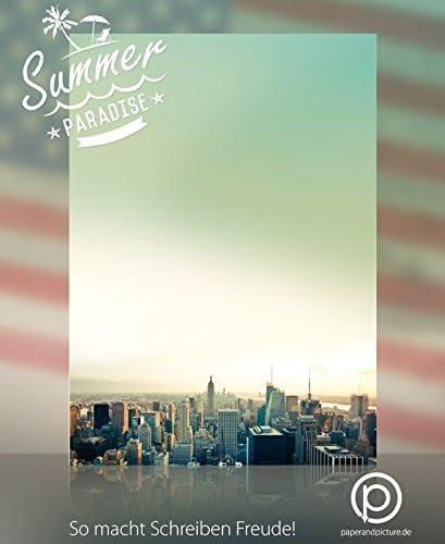 USA-Designpapier-Serie Motivpapier Road Trip New York 50 Blatt Briefpapier DIN A4 90g//qm