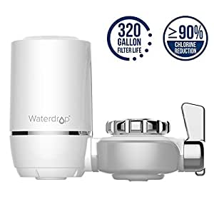 Waterdrop 320-Gallon Long-Lasting Water Faucet Filtration System with Ultra Adsorptive Material, Faucet Water Filter -Fits Standard Faucets