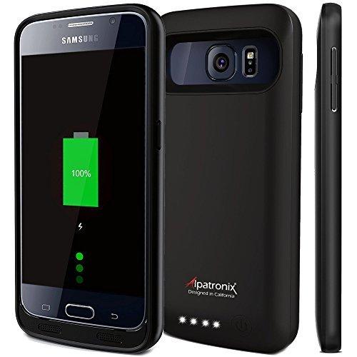 Alpatronix BC-APX-201-B Bx410 Samsung Galaxy S6 Battery Case Charger Power Bank - Black
