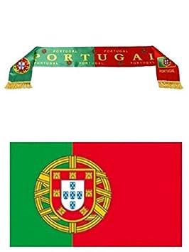 expédition de baisse luxuriant dans la conception couleur n brillante Euro 2016 - Kit du supporter Portugais : Echarpe de 130 x 15 ...