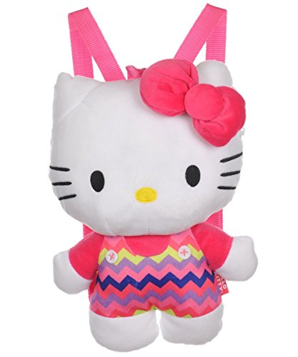 [해외]Hello Kitty Zigzag Overalls Plush Backpack - pink one size / Hello Kitty Zigzag Overalls Plush Backpack - pink, one size
