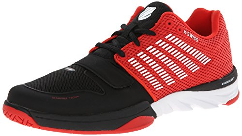 K-Swiss para hombre X corte Casual zapatos Black/Fiery Red/White
