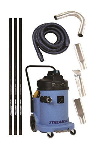 StreamvacTM High Reach Vacuum System - 230V - Carbon Poles To Reach 15ft