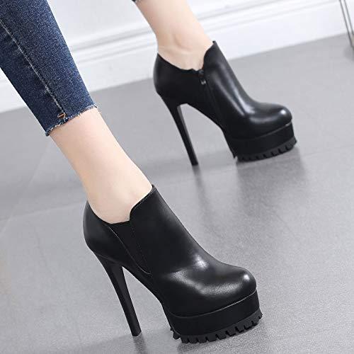 LBTSQ heel mouth side high five zipper heel deep 11cm Thirty Waterproof shoes shoes fashionable thin table w0qfSw
