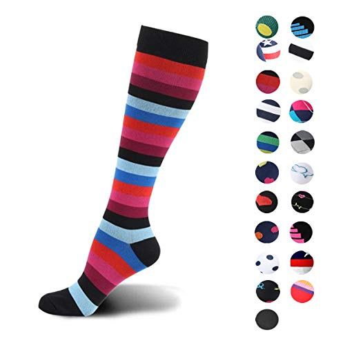 Womens Graduated Medical Compression Socks Running Nurse Diabetic Athletic Diabetic Stockings