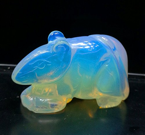 - Some Animals 1 Pcs Hand Carved Gemstone Statue Figurine Collectible 1 Pcs (Opalite Mouse)