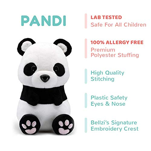 Bellzi Panda Bear Cute Stuffed Animal Plush Toy – Adorable Soft Black and White Bear Toy Plushies and Gifts – Perfect…