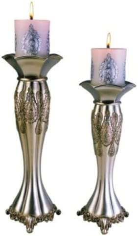 ORE International K-4199C Traditional Royal Candle Holder Set