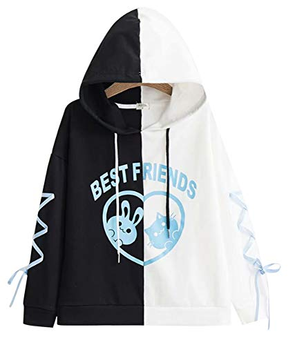 CRB Fashion Cosplay Anime Bunny Emo Girls Cat Bear Ears Emo Bear Top Shirt Pullover Sweater Hoodie (Style #6)