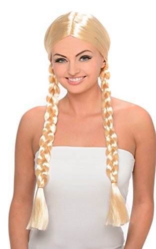 Long Blonde Braids Wig (Princess Wig - Long Blonde Wig with Double Braids for Cosplay and Costume Dressup)