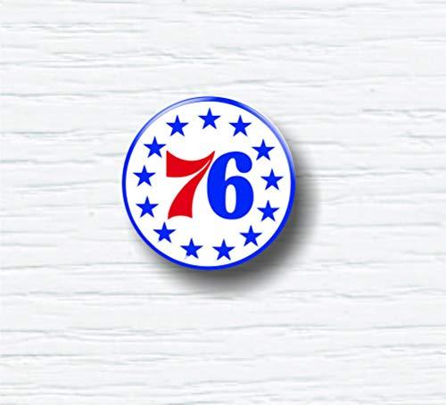 (Philadephia 76ers Unique NBA Logo Insignia Pinback Sports Buttons 1.25