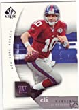 2005 Upper Deck SP Authentic Football Eli Manning Football Card In Display Case !!