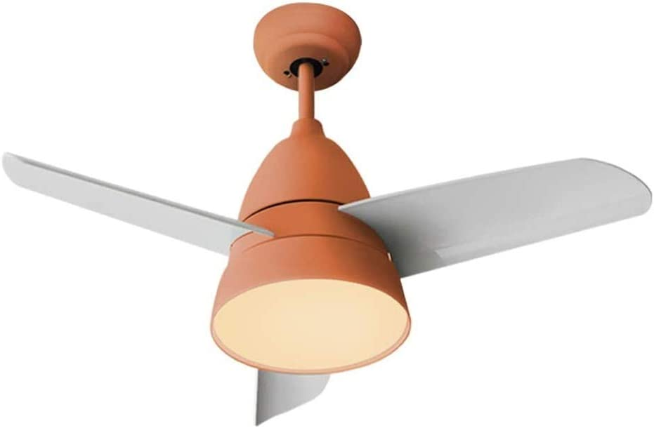TVDCC Ceiling Fan Light,Retro Industrial Ceiling Fan Light for Restaurant Living Room,LED Pendant Light Dimmable with Remote Control