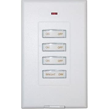 X10 3 Unit Slimline Wireless Wall Switch Dimming Wall Light