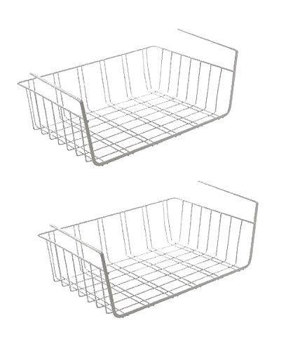 Set Of 2 Metal Hanging Basket, Storage Basket For Kitchen Cupboards Closets  Shelving Unit Base