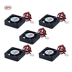 TeOhk 5Pcs Impresora 3D Fan DC 12V 0.08A 40 x 40 x 10mm con 28cm ...