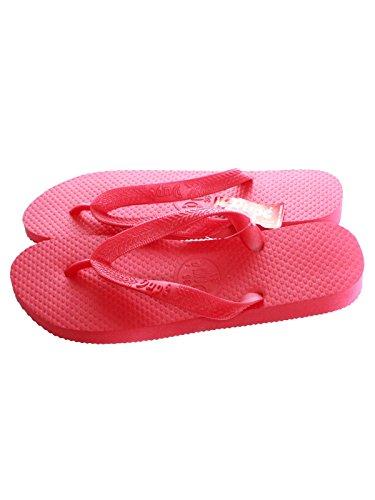Dupe Zehentrenner Monocolor rot Badesandalen Schlappen Urlaub Beach Schuhe Sonne