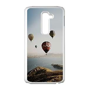 LG G2 Cell Phone Case White mi81 hot air balloon sky seaside nature SLI_572983
