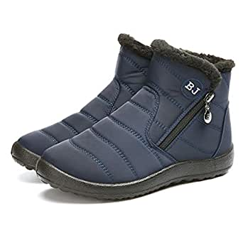 Amazon.com: gracosy Warm Snow Boots Outdoor Fur Lining