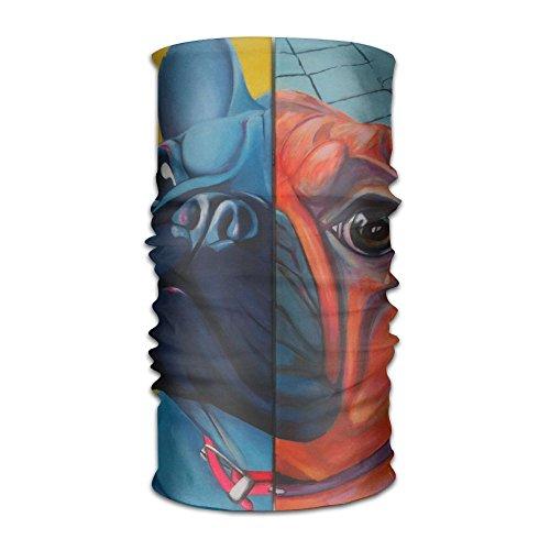 Colorful French Bulldog DIY Pattern Headband Bandana Mask Sports Seamless Breathable Hair Band Turban For Workout, Fitness, Running, Cycling, Yoga (Halloween Song In French Lyrics)