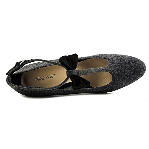 Nine West Hollison Rund Stoff Stöckelschuhe DARK GREY BLCK FABRIC