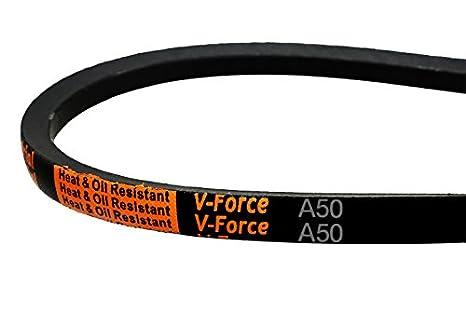 A//4L 1//2 x 131 OC 1//2 x 131 OC ORB-A129 Rubber D/&D PowerDrive A129 V Belt