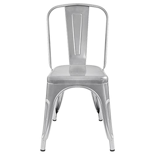 Furmax Metal Dining Chair Tolix Style Indoor Outdoor Use