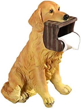 犬のトイレットペーパーホルダートイレ衛生樹脂トレイ浴室ハンドティッシュボックス家庭紙タオルホルダーリールスプール・デバイス (Color : Dog)
