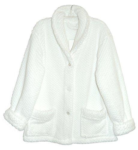 Jackets Bed Women (La Cera Women's Shawl Collar Bed Jacket Plus Size)