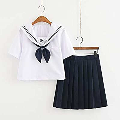 ATm Uniforme de Colegio de Anime japonés Azul Marino JK Sailor ...