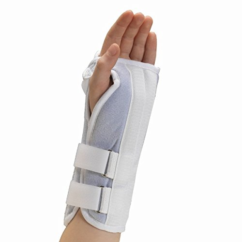 Pediatric Brace Wrist (OTC Kidsline Wrist Splint Soft Foam Adjustable Support, White (Left Hand), Pediatric)